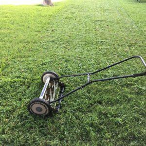 Rasenmäher und Gartenwerkzeuge